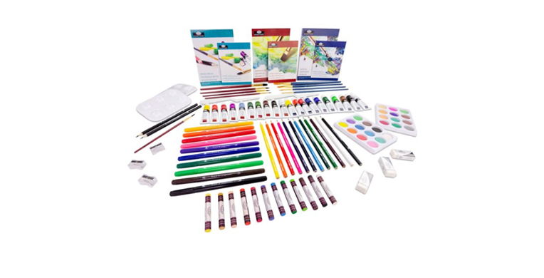 Royal /& Langnickel Ultimate 3-in-1 Art Set 149 Pieces 3 Separate Wooden Cases