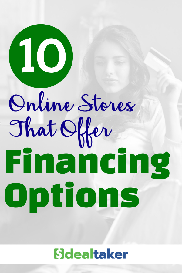 Online Stores That Offer Financing