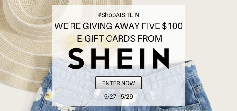 We're giving away five $100 e-gift cards from SHEIN!