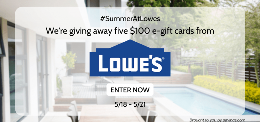 #SUMMERATLOWES GIVEAWAY