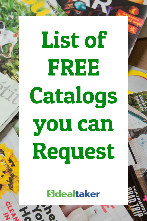 List of FREE Catalogs you can Request