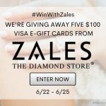 Savings.com is giving away five $100 Visa e-gift cards from Zales!