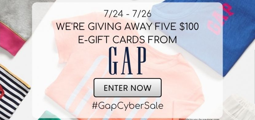 #GapCyberSale Giveaway